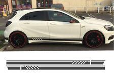 2×Auto Styling Body Side Film Streifen Rock Aufkleber für Mercedes Benz Schwarz