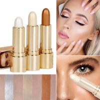 3Colors Highlighter Stick Bronzer Face Shading Powder Contour Trimming Makeup