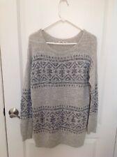 Hollister Beige Knit Long Sleeve Sweater Size X -Xs