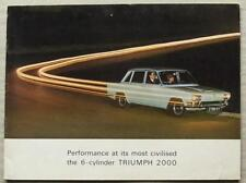 TRIUMPH 2000 Car Sales Brochure April 1965 #362/465/UK
