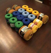 18 Roll Lot Crochet Thread Sampler (Size 3 & 10 Thread) (6 Colors) (New)