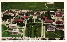 Vintage Postcard - University of Utah Aerial View Salt Lake City UTAH UT #3438