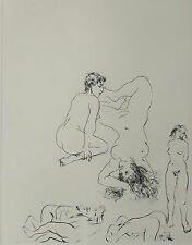 Walter Spitzer (Polish 1927) Etching of Nude Couple in Various Positions Signed