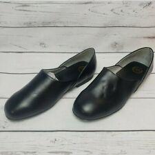 LB Evans Radio Tyme II Men's Size 8.5 EEE Black Leather Slippersq
