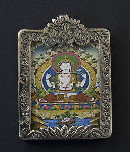 Pendant Amulet Ghau Tibetan Chenrezi 57mm Talisman Chepu 26426