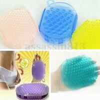 Woman Man Bath Anti Cellulite Body Massager Silicon Brush Glove Scrub Shower Hot