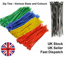250 Cable Ties Home Garden Plant Tie Nylon Zip Wraps Mix Sizes -BUY 3 GET 1 FREE