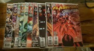 FLASHPOINT #3 and Flashpoints sets DC Comics Flash Batman Wonderwoman Aquaman
