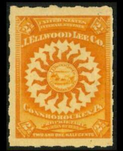 RS293p REVENUE Medicine 2 1/2c Orange ELLWOOD LEE COMPANY Used SEE PHOTOS Z-440