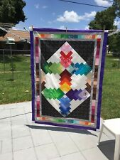 Handmade Quilted Throw Blanket