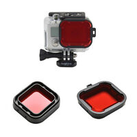 Underwater Sea Diving Snap On Red Lens Filter For Go Pro Hero 3+4 Housing Ca LD