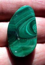 Pendentif pierre fine en Malachite 37x20x5 mm