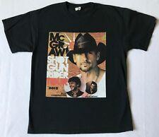 Tim McGraw Shot Gun Rider Tour 2015 Size Large Black T-Shirt (B)