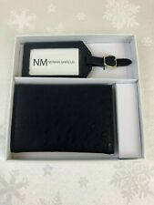 Neiman Marcus Navy Blue Wallet, Man Made Ostrich Leather, Style 2683090 (new)