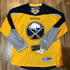 Reebok Authentic NHL Jersey Buffalo Sabres Team Yellow Alternate Size L