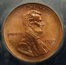 1999 LINCOLN CENT HUGE BROADSTRUCK ERROR NICE COIN ICG MS-65RD