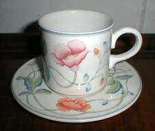 "FOUR VILLEROY AND BOCH ALBERTINA CUPS AND SAUCERS 3"" X 3 1/8"""