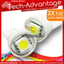 2 X 12V T10 COOL WHITE LED CAR/TRUCK/RV REPLACEMENT BULB GLOBE PARKER LIGHTS