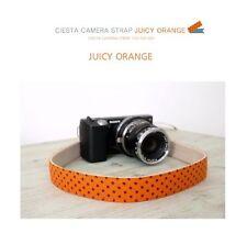 Ciesta Juicy Orange Blue Camera Strap for DSLR Mirrorless Camera New