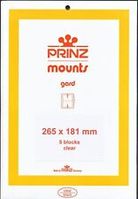 Prinz Stamp Mount 181/265 CLEAR Background Pack of 5