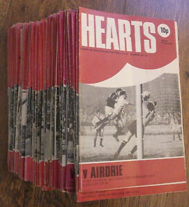1976-1980 Hearts/Heart of Midlothian Home Programmes *Pick Opponents*