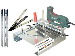 Laminatschneider Vinylschneider Verlegeset 012LK Sägetisch +Bosch Metabo Blatt