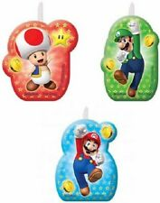 Super Mario Birthday Candles x 4 Partyware Children Party Cake Topper Tableware