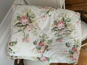 Laura Ashley Twin Comforter Country Rose Floral Roses cottage winter vtg? Shabby