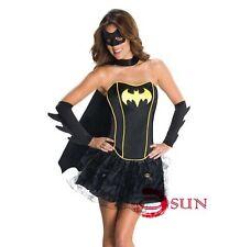 Women Sexy Bat Batman Batgirl Batwomen Costume Fancy Dress Up Halloween Size8-12
