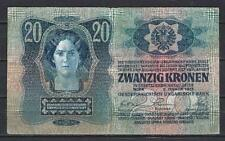Autriche - Austria billet occasion de 20 kronen pick 13 Very Fine