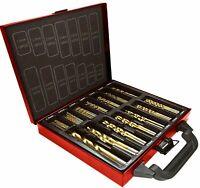 Lumberjack High Quality 99 Pc Titanium Coated HSS Drill Bits Set Metal Case