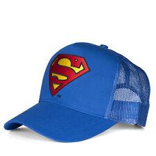 DC Comics: Superheld: Superman Logo Kinder Trucker Cap - Kappe - Mütze, bestickt