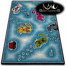 Soft Carpets Bedroom Boys Girls Thick Children Rug 'KIDS' CATS FUN Rugs LARGE