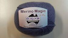 Heirloom Merino Magic 4 Ply #587 Purple Grey 100% Wool