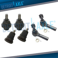Detroit Axle 2000-2004 Xterra Inner and Outer Tie Rod Kit for 2000 2001 2002 2003 2004 Nissan Frontier 3.3L - 8PC Front Upper Control Arm w//Ball Joint