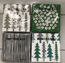 Marimekko Christmas paper napkins, lot of 4 packages, from Finland green