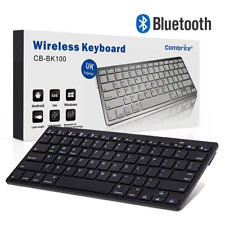More details for combrite slim wireless bluetooth keyboard for pc imac ipad android phone tablet