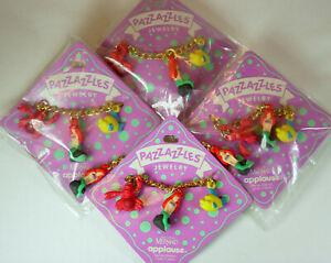 Disney The Little Mermaid Ariel Vintage Applause 4 Bracelets Jewelry Lot NOS