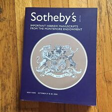 SOTHEBY'S CATALOG - IMPORTANT HEBREW MANUSCRIPTS / MONTEFIORE ENDOWMENT - 10/04