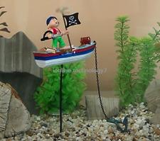 Caribbean Pirate Air Action pirate boat Aquarium Ornament Fish Tank Decoration