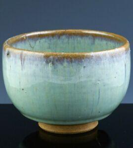 INTERESTING ANTIQUE CHINESE JUN SKY BLUE FLAMBE GLAZED TEA BOWL SONG DYNASTY