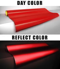 Red reflective glowing Vvivid vinyl film 1ft x4ft printable decal sticker roll