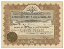 Griffin Chilled Steel & Iron Company, Inc. Stock Certificate