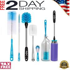 5 Pack Bottle Brush Cleaning Set Long Handle Bottle Cleaner for Washing Narrow