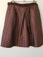 CUE Skirt Size 12 Burgundy Diamond Textured Flare A Line City Party NYE Xmas