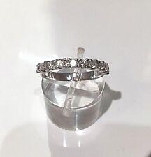 alliance diamants or blanc 18 carats 750 demi tour poids 2,24 g et diamants 0,45