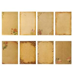 A5 Stationary Paper 8 Pack Parchment Antique Colored Printed Kraft Paper Set