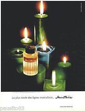 PUBLICITE ADVERTISING 095  1967  ROCHAS   parfumhomme MOUSTACHE