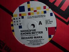 "Richard Marx ""Should've Known Better"" Terrific Oz 7"
