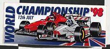 1999 British GP SILVERSTONE f1 originale periodo STICKER AUFKLEBER Schumacher VINCERE